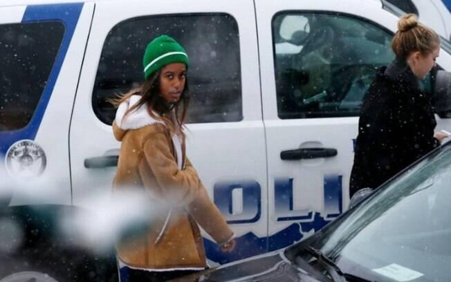 Na semana passada, Malia Obama, de 18 anos, foi vista em Utah em um ato contra a construção de um oleoduto em Dakota