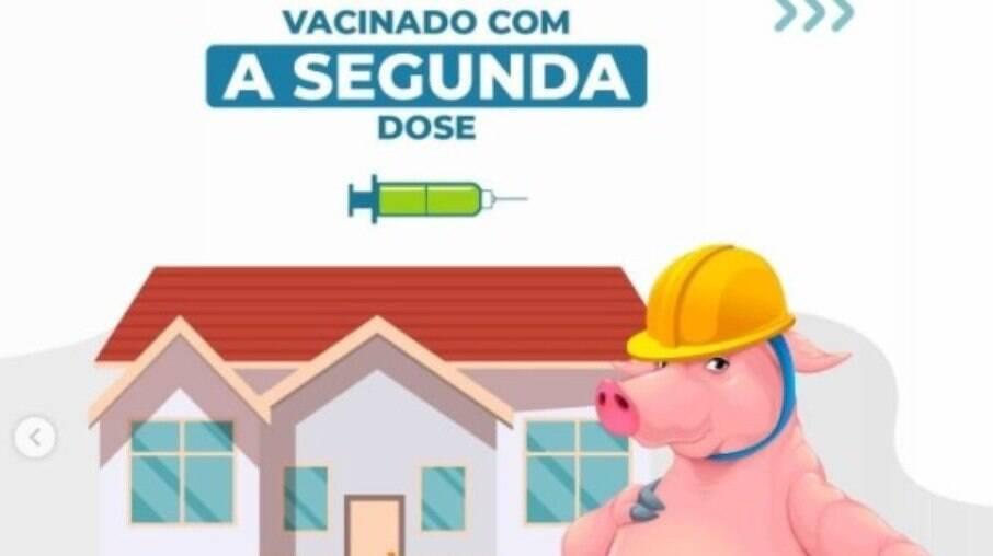 Prefeitura de Goiânia usa fábula dos 3 porquinhos para incentivar vacinação