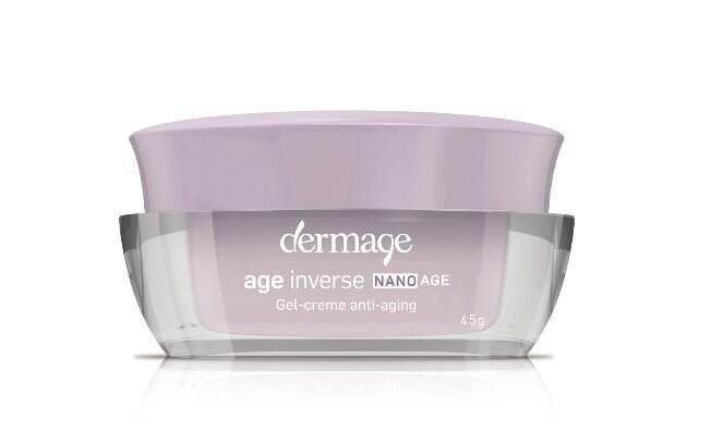 O gel-creme Age Inverse Nanoage, da Dermage, promete reduzir linhas de expressão proporcionando firmeza e elasticidade à pele l R$171,50