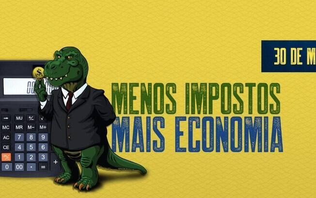 Impostossauro é o mascote do Dia Livre de Impostos, que acontece nesta quinta-feira e oferece descontos