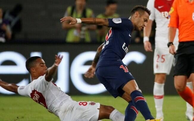 Neymar entrou no segundo tempo de PSG 4 x 0 Monaco
