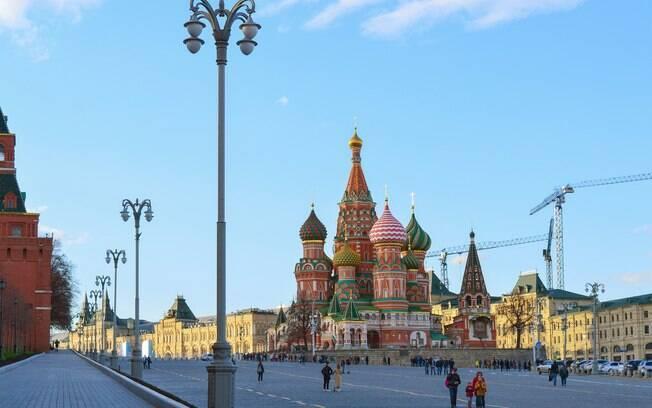 Catedral de São Basílio fica na Praça Vermelha, na Rússia