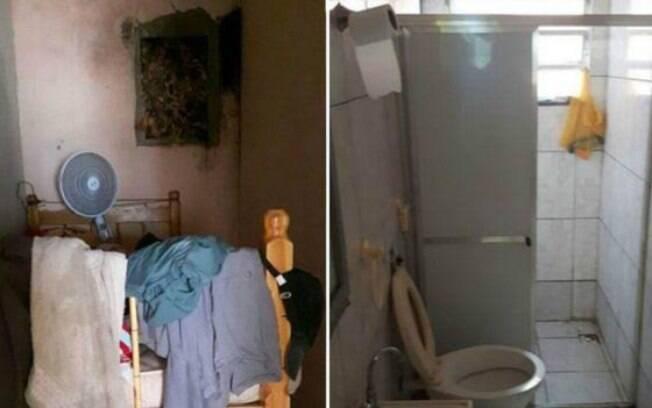 Banheiro não tinha chuveiro e mofo se espalhava pelos quartos