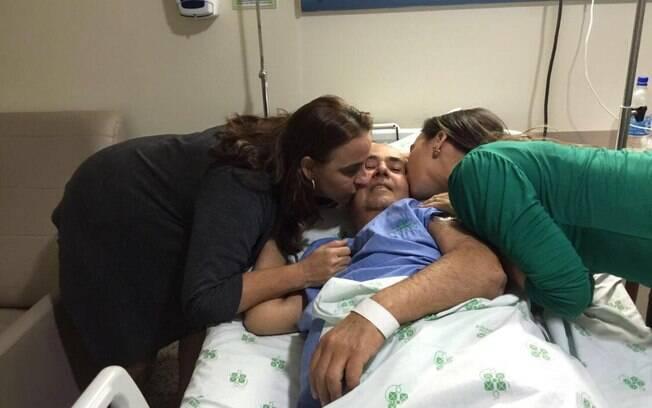 A família autorizou a transferência de Gilberto para o quarto para ele aproveitar o tempo que lhe restava ao lado da família