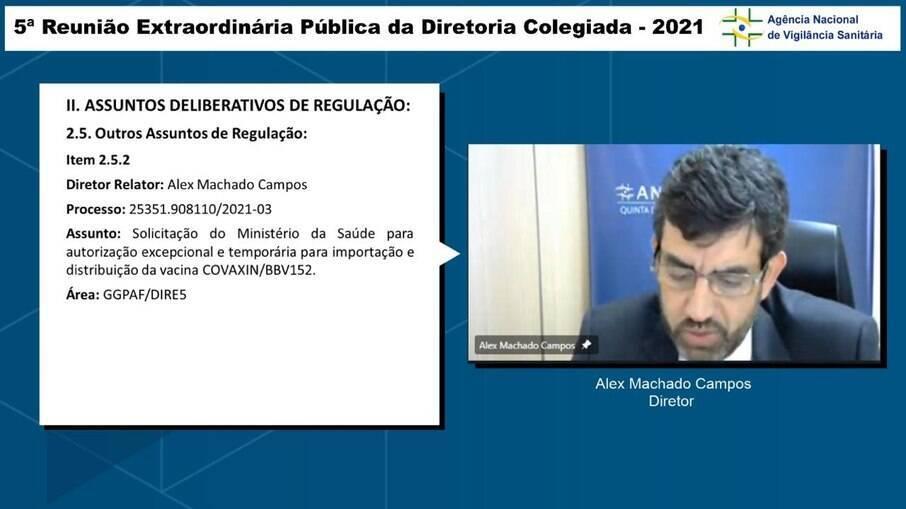 Agência Sanitária analisa autorização excepcional da importação da vacina Covaxin