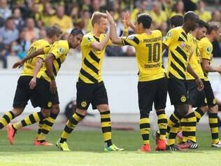 Equipe não teve dificuldades para passar pelo Stuttgarter Kickers, que disputa a terceira divisão nacional