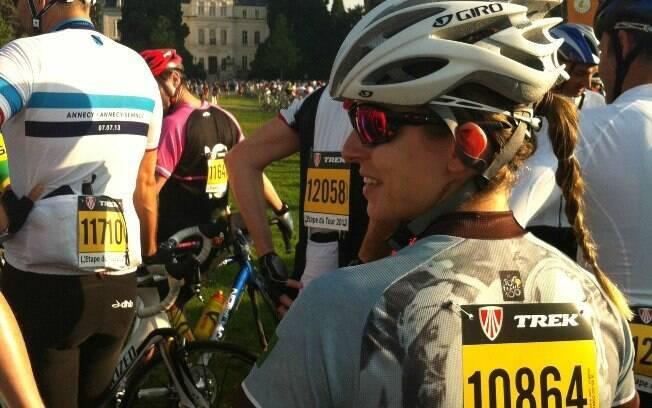 Nicole participou da L'Etape du Tour, etapa para amadores da Volta da França, pela primeira vez