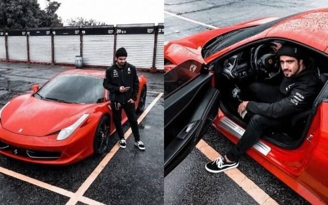 Caio Castro e sua Ferrari