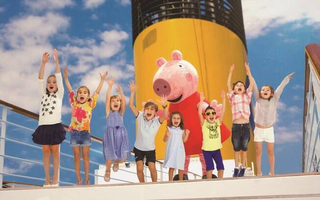 As crianças a bordo dos navios da Costa Cruzeiros podem se divertir com a Pappa Pig e com os eventos realizados