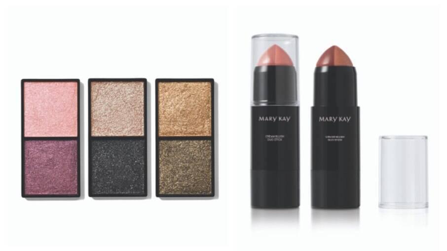 Veja o que achamos do lançamento das sombras metálicas e blushes em bastão de edição limitada da marca de maquiagem Mary Kay