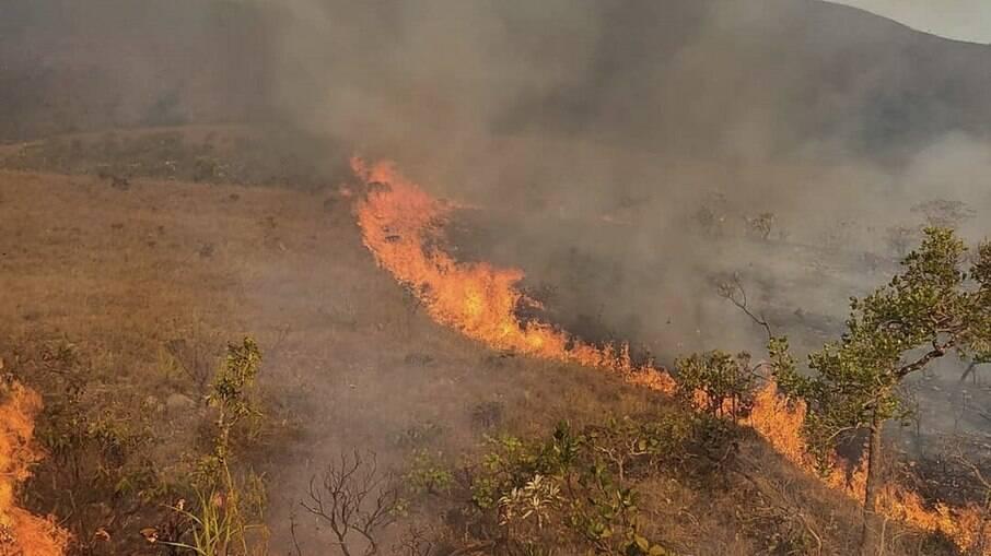 Chapada dos Veadeiros: Bombeiros combatem incêndios pelo 3º dia seguido
