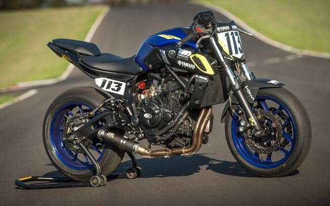 Todos os ajustes da motocicleta foram feitos sob medida para o piloto