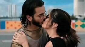 Túlio Gadêlha posta vídeo beijando Fátima Bernardes: