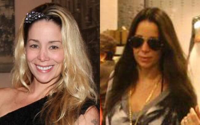 Famosa pelos cabelos loiros compridos, Danielle Winits também apareceu morena nesta semana
