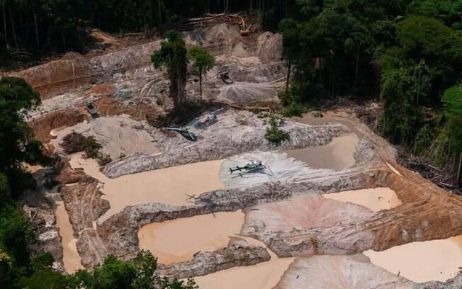 Garimpo ilegal é uma das principais causas do desmatamento na Amazônia