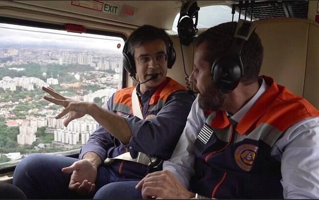 Governador em exercício, Rodrigo Garcia (DEM) sobrevoou as áreas atingidas pelas chuvas na Grande São Paulo