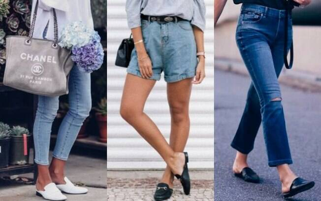 Os sapatos mule nas versões com e sem salto conseguem deixar qualquer look mais moderno e cheio de estilo