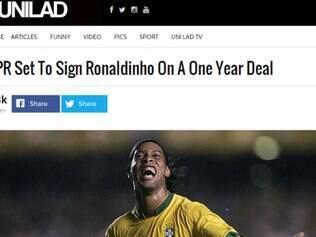 Site inglês coloca jogador com camisa da seleção brasileira e com um pé no futebol da Inglaterra