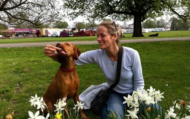 Ruby e a dona Kate Chacksfield