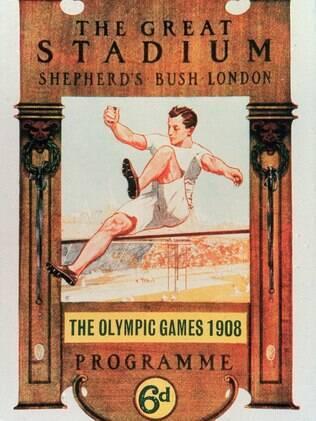 Cartaz da primeira Olimpíada londrina