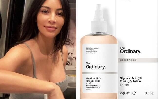 Kim Kardashian e Glycolic Acid 7% Toning Solution