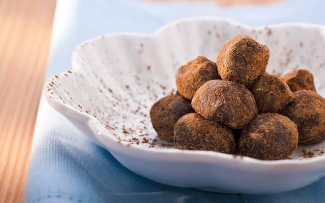 Foto da receita Trufa de chocolate pronta.