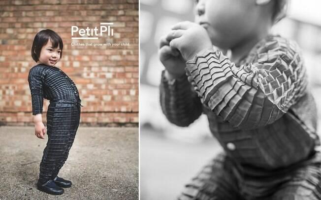 Pensando no quão rápido as crianças perdem roupas, o designer criou peças que crescem junto com elas