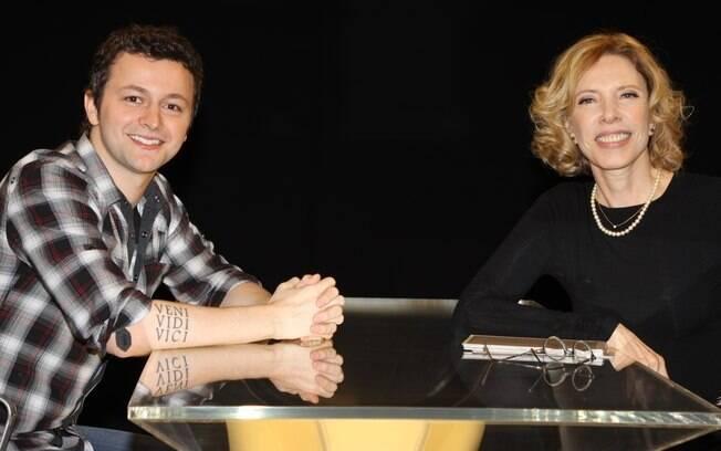 Lucas Lima de frente com Marília Gabriela