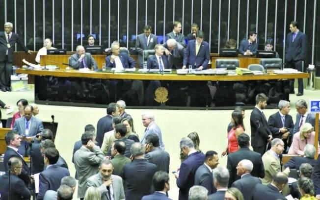 Deputados federais no Plenário da Casa: eles também são alvo da recomendação do MPF