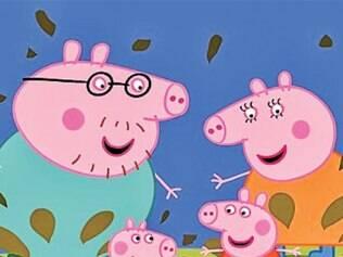 História da porquinha Peppa e de sua família encantou a criançada