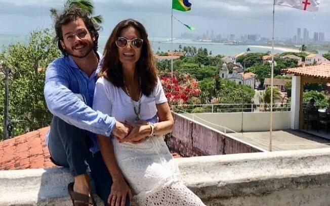 Fátima Bernardes e Túlio Gadelha em viagem romântica