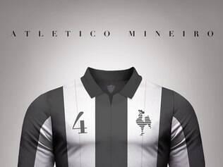 Atlético também ganhou um modelo de camisa no estilo vintage