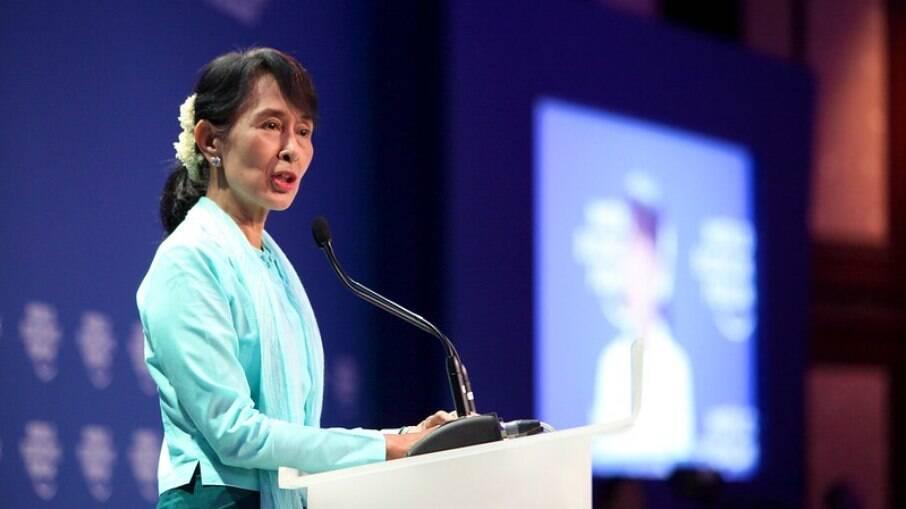 Líder de Mianmar não é vista em público desde o dia do golpe de estado