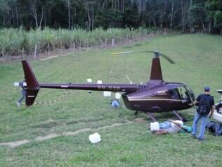 Helicóptero do deputado Gustavo Perrella