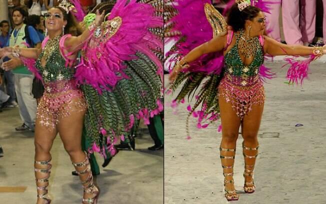 Preta Gil: esforço para representar o posto de rainha de bateria da Mangueira