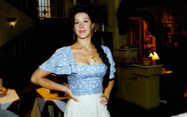 Claudia Raia como a espanhola Hortência em