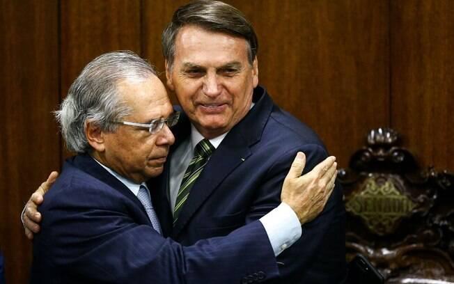 Guedes e Bolsonaro