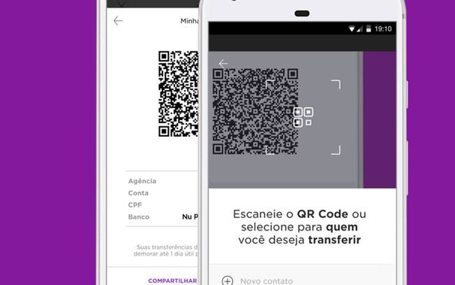 Transferências entre contas Nubank podem ser feitas via código QR, com liberação instantânea