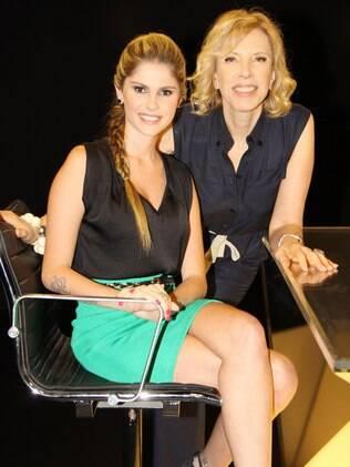 Bárbara Evans é entrevistada por Marília Gabriela