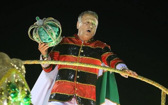 Zico no desfile da Imperatriz Leopoldinense