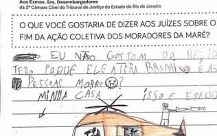 Em 1.500 cartas, crianças da Maré pedem fim da violência e do 'caveirão voador'