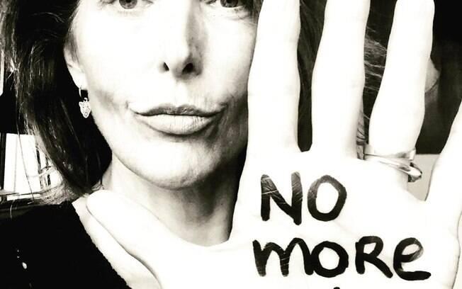 Huisman protesta contra a violência sexual em suas redes sociais