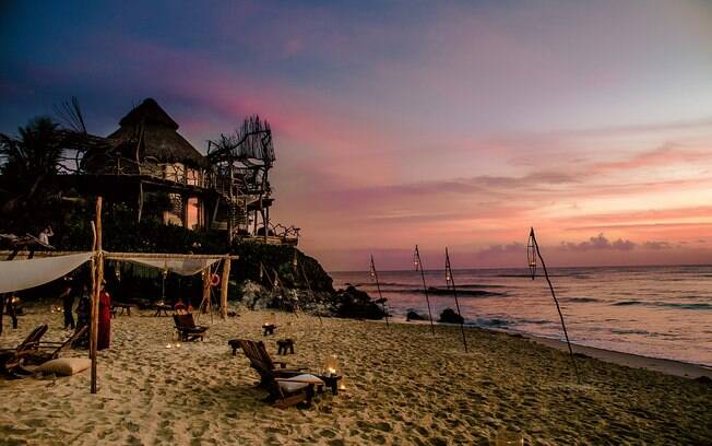 Azulik, Adult Eco-Resort and Maya Spa, em Tulum, no México, é um local perfeito para fazer fotos de viagem