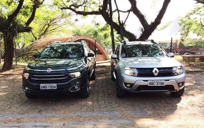Fiat Toro 1.8 x Renault Oroch: a primeira tem desenho arrojado, mas na versão 1.8 custa caro, gasta muito e anda pouco