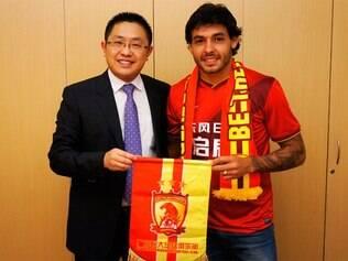 Guangzhou anunciou a contratação de Goulart em seu site oficial