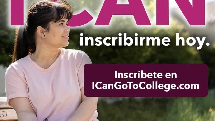 Edna na campanha da Community Colleges of California