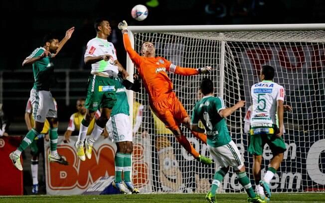 No Pacaembu, empate sem gols com a  Chapecoense no fechamento do primeiro turno