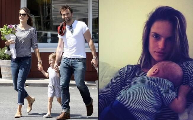 Alessandra Ambrosio com a família: o marido Jamie e os filhos Anja e Noah