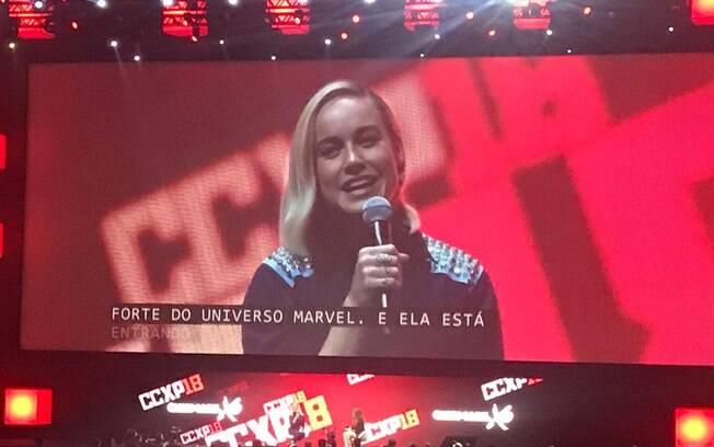 Capitã Marvel na CCXP 2018