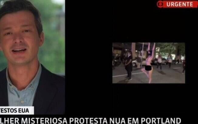 GloboNews exibe mulher nua em protesto